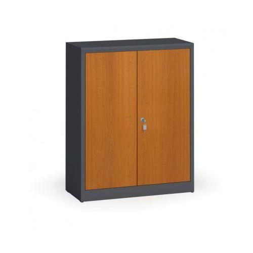Szafy spawane z laminowanymi drzwiami, 1150 x 920 x 400 mm, ral 7016/czereśnia marki Alfa 3