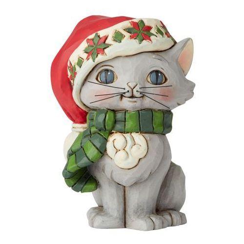 Świąteczny kotek Christmas Kitten Mini Figurine 6004295 Jim Shore figurka ozdoba świąteczna