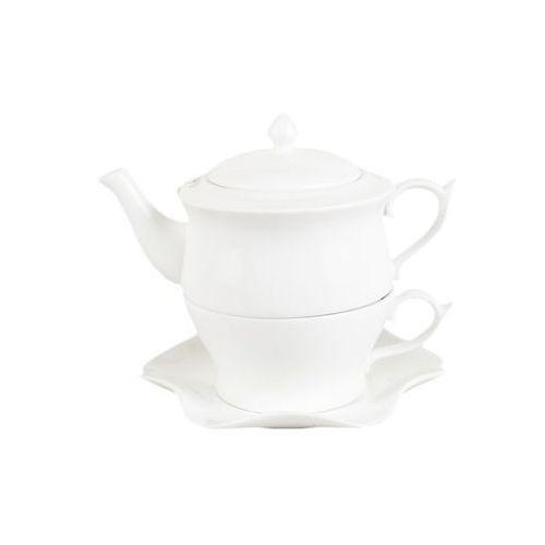 Filiżanka + dzbanek imbryczek tea for one białe marki Anlux