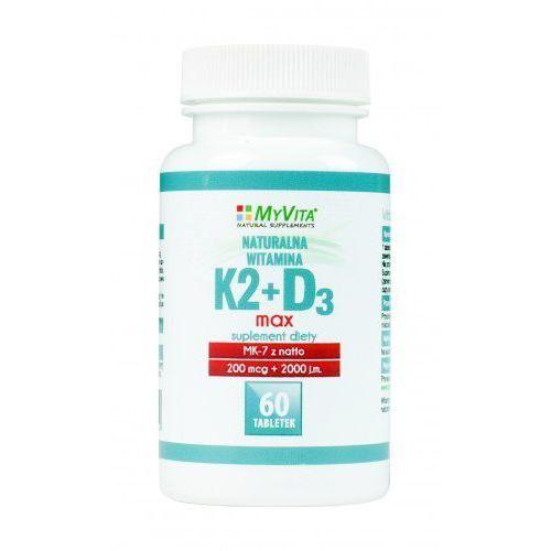 Witamina K2 MK-7 K2MK7 MAX 200mcg + D3 2000IU 60 tabletek MyVita