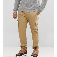 plus cargo trouser with cuffed hem - beige, Only & sons