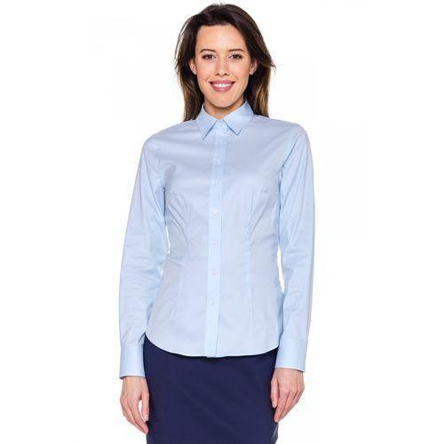 Niebieska, klasyczna koszula - marki Sobora