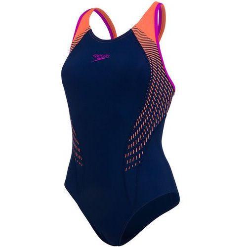 Speedo fit laneback strój kąpielowy kobiety pomarańczowy/niebieski de 38 / it 34 2018 stroje kąpielowe