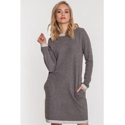 Szara sukienka na co dzień - Ryba, 1 rozmiar