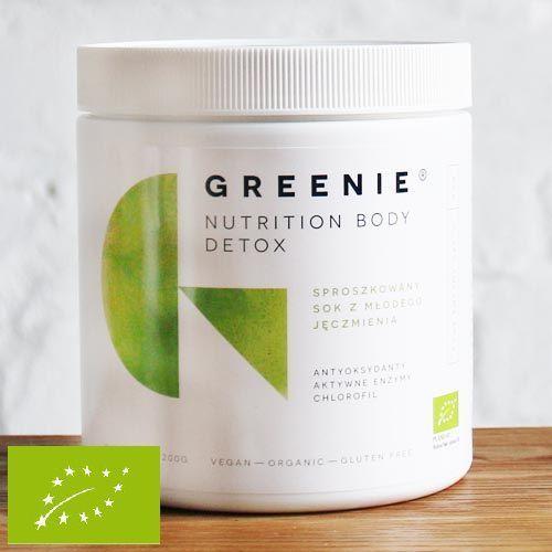 Greenie ® - sproszkowany bio sok z młodego jęczmienia 200g 200 g marki Aura herbals