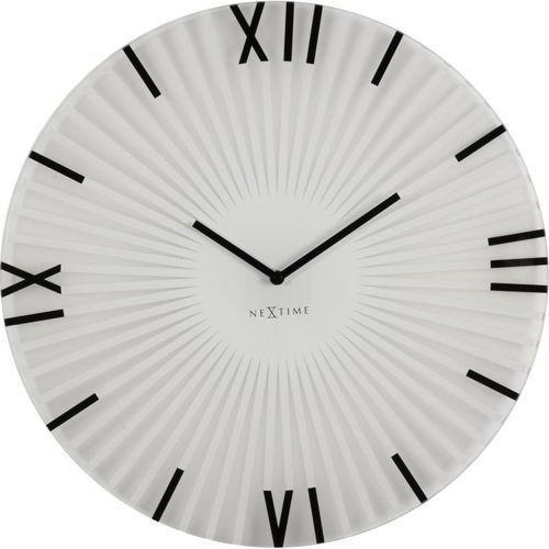 Nextime - zegar ścienny sticks - biały