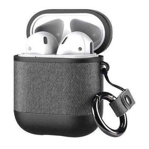 Dux ducis etui na słuchawki apple airpods 2 / airpods 1 z ekologicznej skóry szary - szary