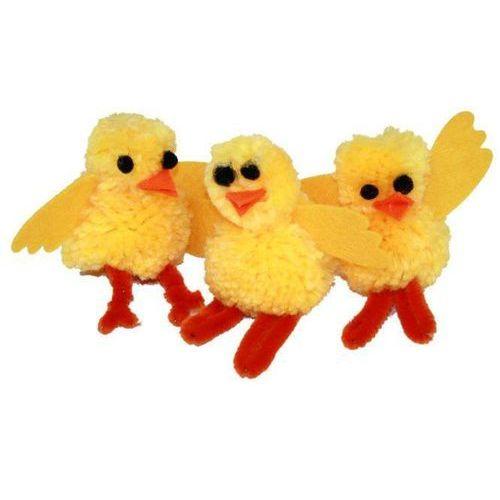 Zestaw kreatywny kurczaczek na wielkanoc - 3 szt. marki Bre