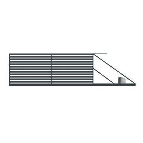 Brama przesuwna z automatem Polbram Steel Group Lara 400 x 154 cm prawa