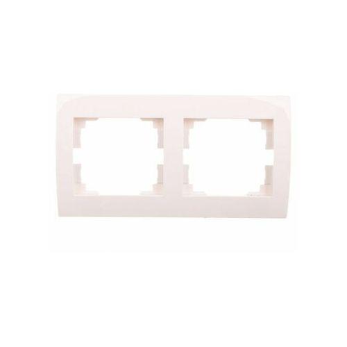 KANLUX LOGI 02-1470-002 biały Ramka podwójna pozioma 25118 (5905339251183)