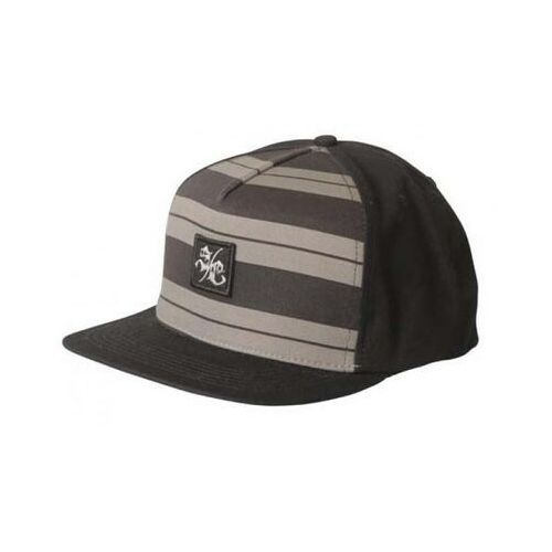 czapka z daszkiem SANTA CRUZ - Charlie Brown Snap Back Black/Grey (BLACK GREY), kolor brązowy