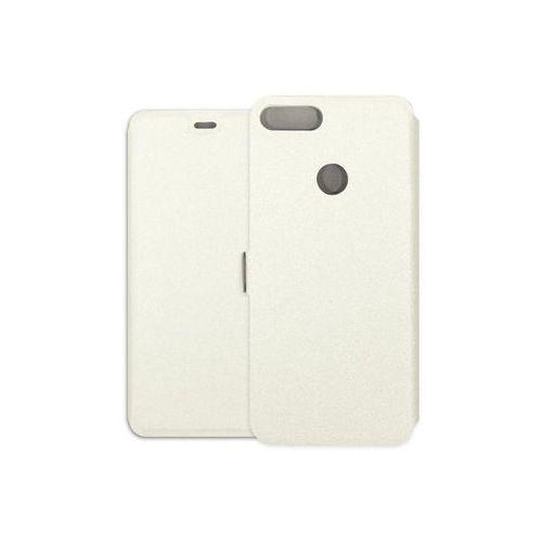 Huawei p smart - etui na telefon wallet book - biały marki Etuo wallet book