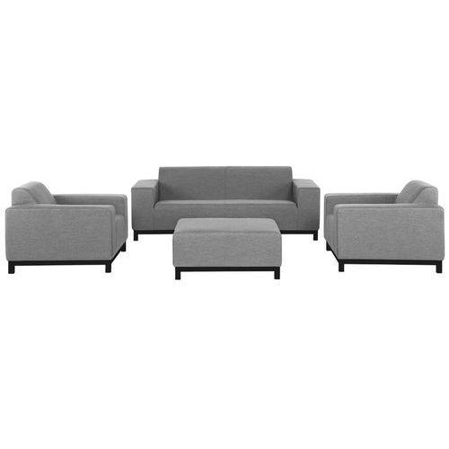 Beliani Meble ogrodowe szare - ottomana + 2 fotele ogrodowe + sofa - rovigo (4260580928958)