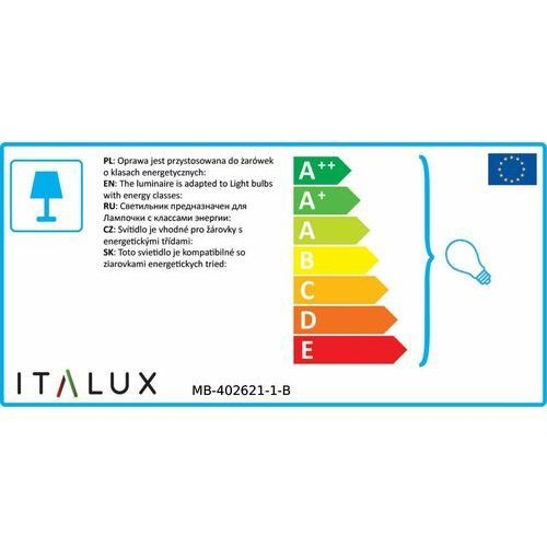 Kinkiet lampa oprawa ścienna Italux Laverno 1x60W E27 czarny mat MB-402621-1-B, MB-402621-1-B