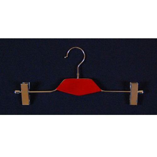 Wieszak metal i drewno (typ WDS dł. 35cm) z klamrami np. do spodni, spódnic, 01122