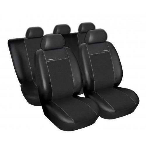 Skórzane pokrowce samochodowe miarowe PREMIUM CZARNE Volkswagen Tiguan od 2007 r.