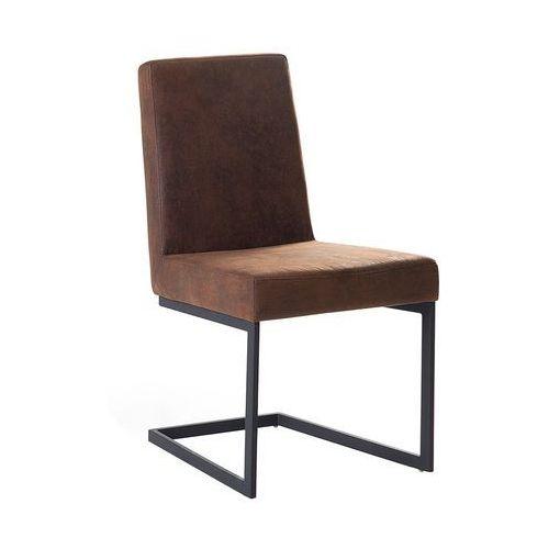 Krzesło do jadalni brązowe/czarne ARCTIC, kolor brązowy