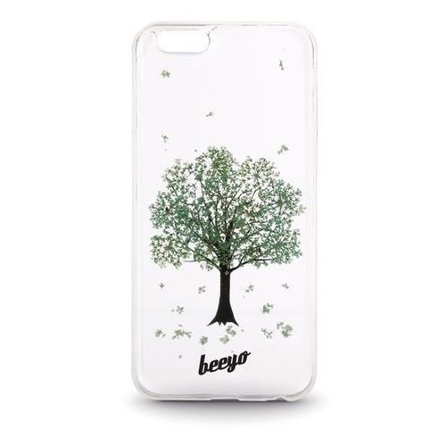 Silikonowa nakładka etui beeyo Blossom do Samsung J500 transparentna + miętowa (5900495420299)