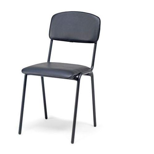Krzesło do stołówki CLINTON skai czarny, 115712