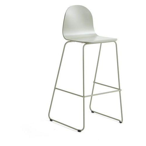 Aj produkty Krzesło barowe gander, płozy, siedzisko 790 mm, lakierowany, zielonoszary