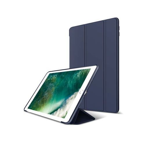 Alogy Etui smart case apple ipad 9.7 2017 / 2018 silikon granatowe - granatowy
