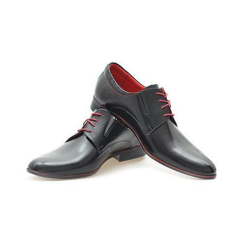 Pantofle Pan 775 Czarny+ czerwony L