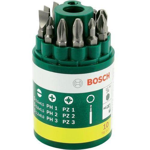 10-częściowy zestaw końcówek wkręcających Bosch z uniwersalnym uchwytem magnetycznym. (3165140415729)