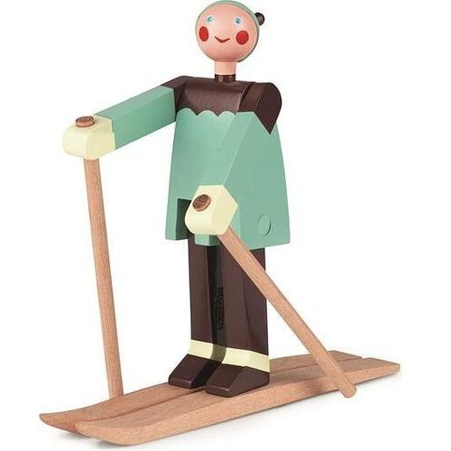 Figurka drewniana narciarz Boje (5709513394105)