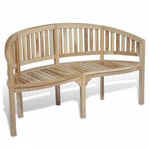 Drewniana ławka ogrodowa bart - brązowa marki Producent: elior