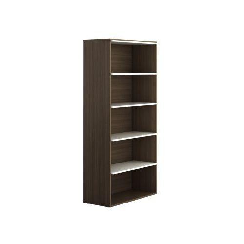 Szafa biurowa wysoka bez drzwi boards wood, dąb ciemny marki Plan