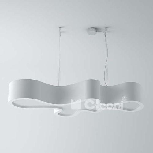 LAMPA wisząca ATEGO 105 12391ABZP1.701 Cleoni futurystyczna OPRAWA zwis biały połysk - produkt z kategorii- Lampy sufitowe