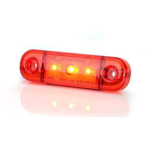 Waś Lampa led pozycyjna tylna czerwona 3led (709) (5901323111532)