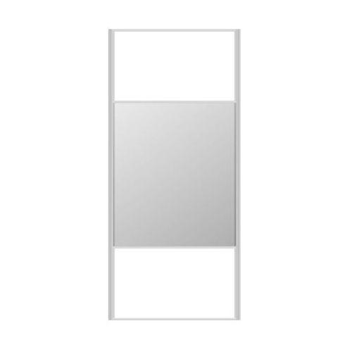 Spaceo Drzwi przesuwne do szafy białe/lustro 98.7 cm