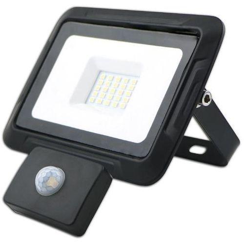 Kobi oprawa lampa naświetlacz halogen led 20w barwa zimna z czujnikiem ruchu i zmierzchu 13112