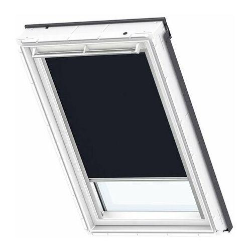 Roleta na okno dachowe VELUX manualna Standard DKL MK04 78x98 zaciemniająca ciemnogranatowa (5702326748431)