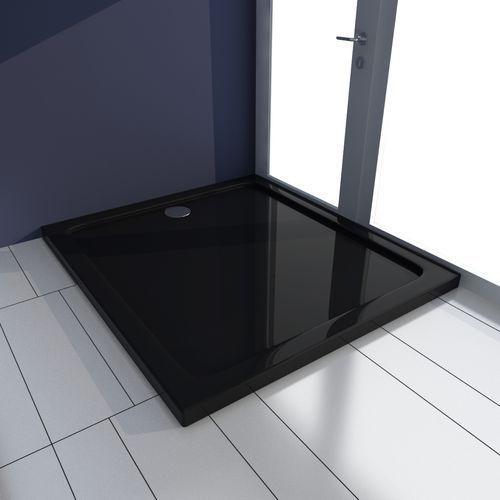 Vidaxl  brodzik prysznicowy prostokątny abs czarny 80 x 90 cm