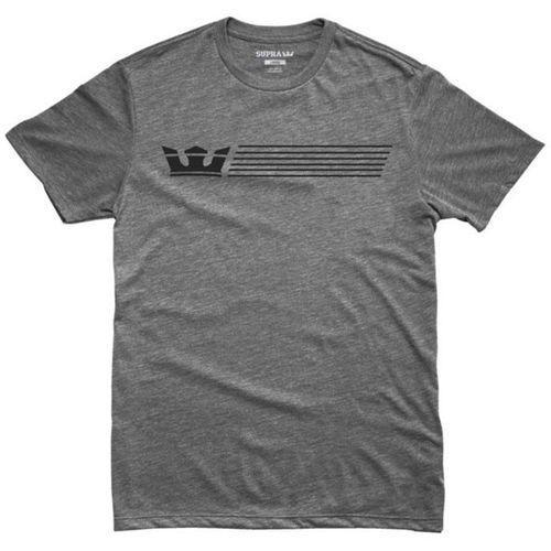 koszulka SUPRA - Crownstripe Regulart Grey Heather (034) rozmiar: XL