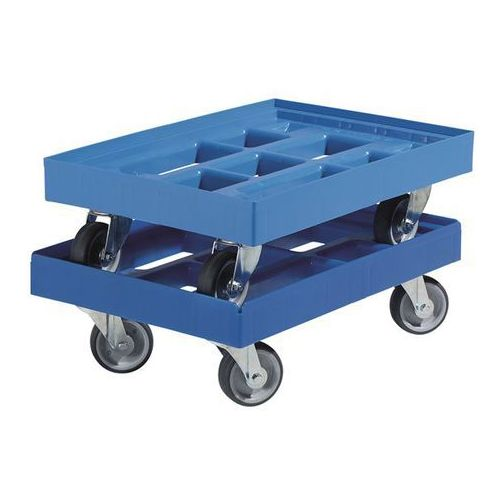 Wózek transportowy, dł. x szer. 610x410 mm, z hdpe, niebieskie gencjanowe. niedu marki E.s.b. engineering - system - bau