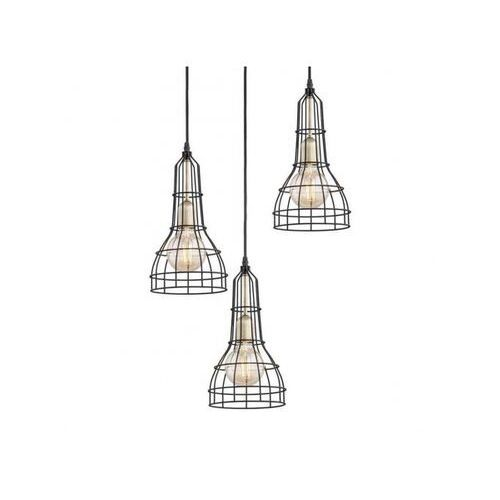 Tklighting Lampa wisząca zwis druciana tk lighting long 3x60w e27 czarna 2230