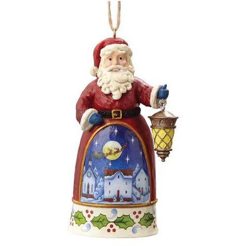 Mikołaj z latarnią zawieszka mini santa with lantern 4055133 marki Jim shore