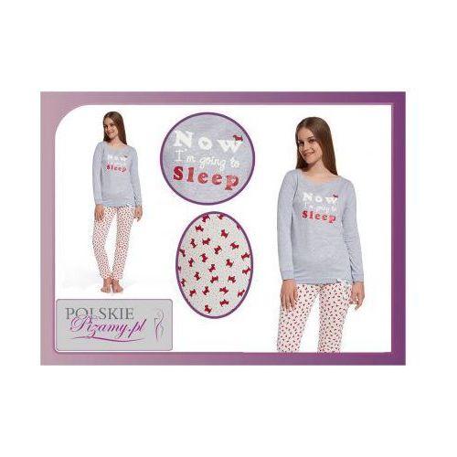 Piżama damska SLEEP: szary melanż