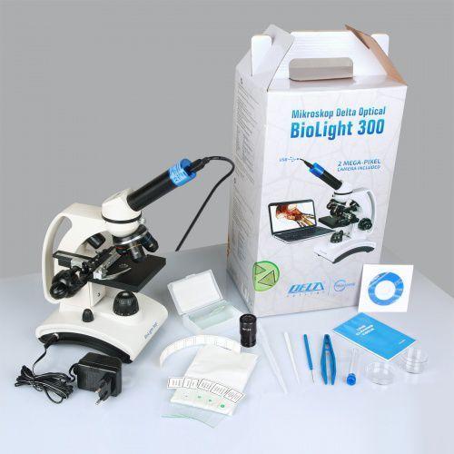 Mikroskop szkolny biolight 300  z kamerą 2mp marki Delta optical