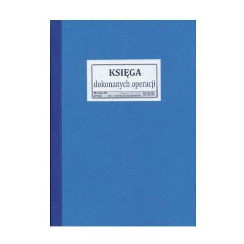 Księga dokonanych operacji / oprawa twarda [mz/szp-38] marki Firma krajewski