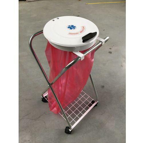 Stojak na odpady medyczne na worek 60 l lub 120 l wózek na odpady medyczne, wozek na śmieci marki Clean