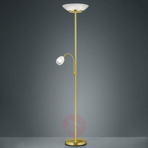 Trio rl gerry r40063108 lampa podłogowa stojąca 2x18w e27+ 1x10w e14 e14 mosiądz / biały (4017807435085)