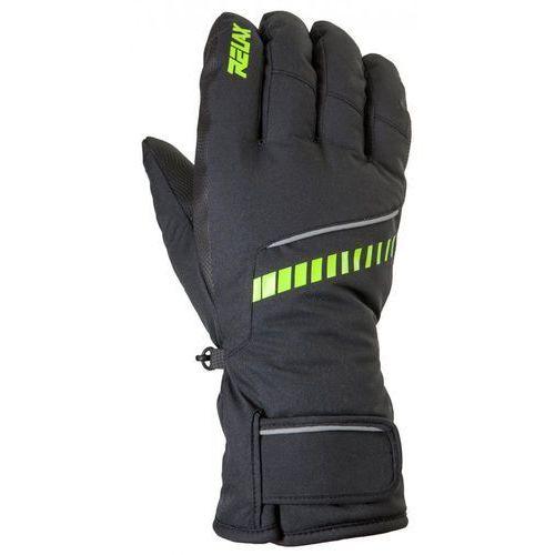 Relax rękawice narciarskie męskie down czarne, neonowo żółte s
