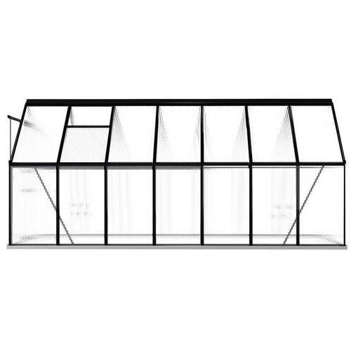VidaXL Szklarnia z ramą podstawy, antracytowa, aluminium, 26,14 m³