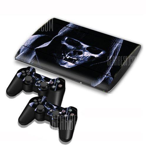 Skull Style Game Console Gamepad Controller Stickers Skin for PS3 Slim 4000, kup u jednego z partnerów