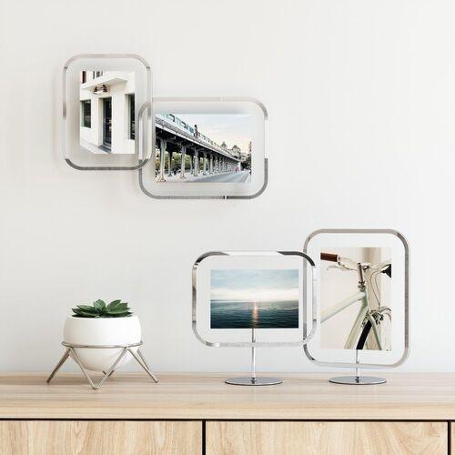- ekspozytor na zdjęcia infinity sqround, 12x18, chrom marki Umbra