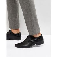 New Look Perforated Derby Shoes In Black - Black